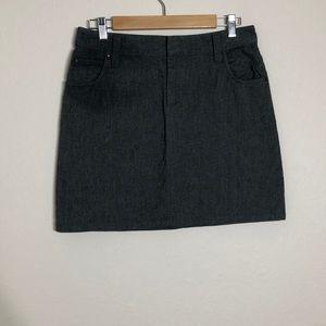 Banana Republic > Grey Stretch Mini Skirt